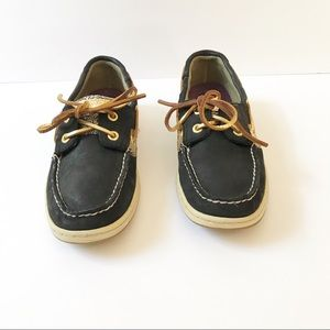 Sperry Shoes - Sperry Topsider Blue & Gold Boat Loafers